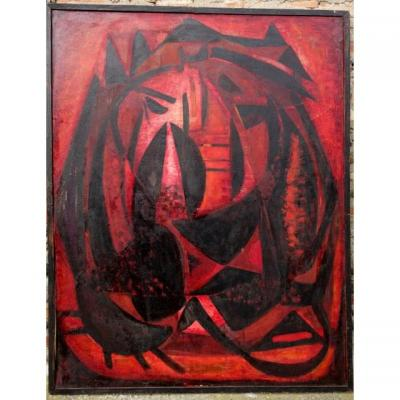 """""""Le Jardin Enflammé""""par Denise CHESNAY DESJARDINS 1951"""