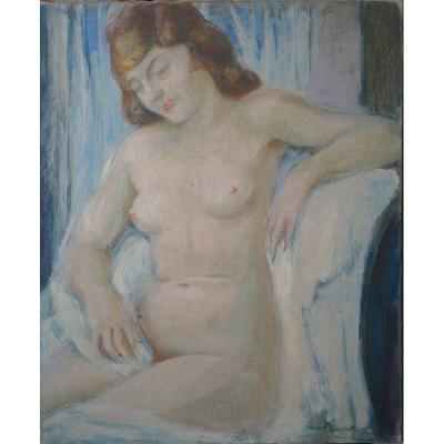 """naked Woman Sitting"" By Jean Baudet Around 1940"