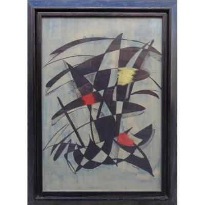 """ABSTRACTION"" par André SORBETS vers 1950/60"