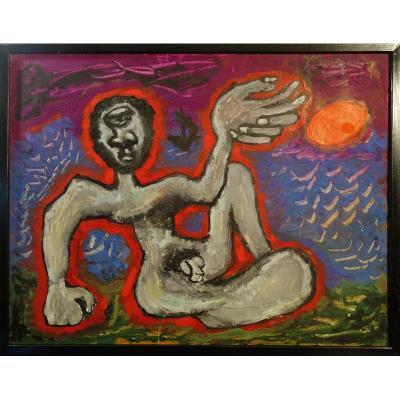 """""""Homme Nu""""par J.C.DRAGOMIR vers 1950/55"""