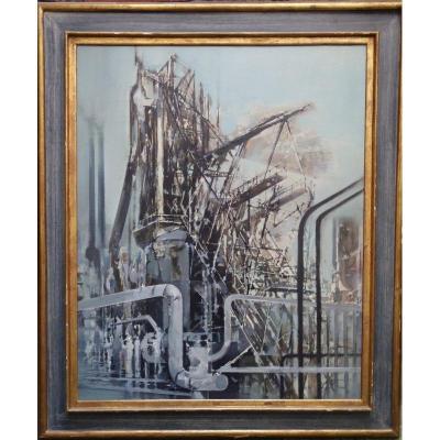 """l'usine"" By Jean Théobald Jacus ... 1959"
