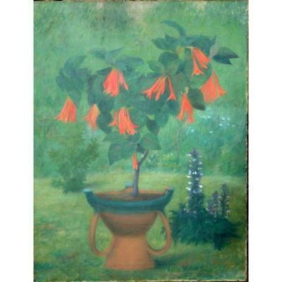 """les Fuchsias"" By Victorine Imart Around 1900/1910"