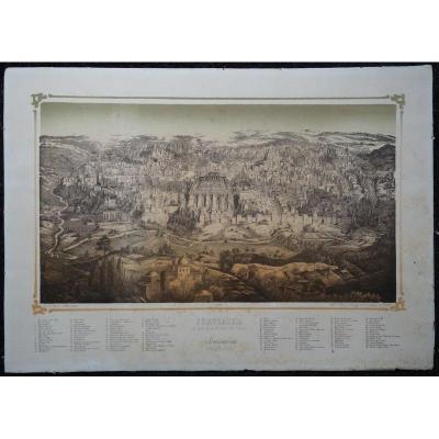 """JERUSALEM"" Litho de Fr.WENTZEL vers 1850"