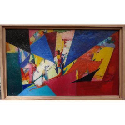 """""""ABSTRACTION"""" par Antoine BEGGORIA vers 1950/55"""