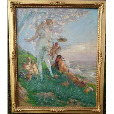 """""""le Printemps"""" By André Pierre Lupiac Around 1930/35"""