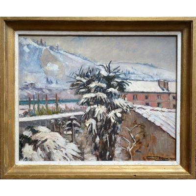 Oil on panel in very good condition ....... Signed and dated lower right ....... 33/41 cm ....... Original painted wooden box of 39/47 cm Gabrielle IZAURE-DEZES (1889-1965) Painter from Toulouse ...... Exhibited to Southern Artists from 1935 ...... Active in Tunisia from 1946 to 1948