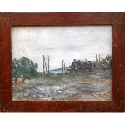 """La Locomotive"" par Henry Marie BESSY ...1928"
