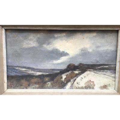 """""""Normandie Enneigée"""" par Jean Auguste CLAIRE vers 1930"""