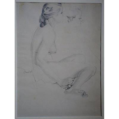 """Nu Assis"" par Jean MABLORD vers 1960/70"