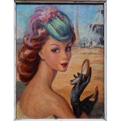 """""""La PARISIENNE"""" par M.LEFORT vers 1950"""