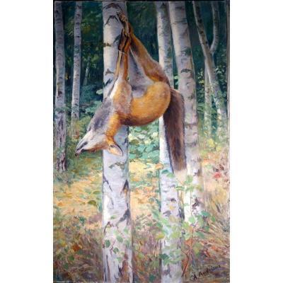 """Renard Mort"" par Alfred ANDRIEUX vers 1930"