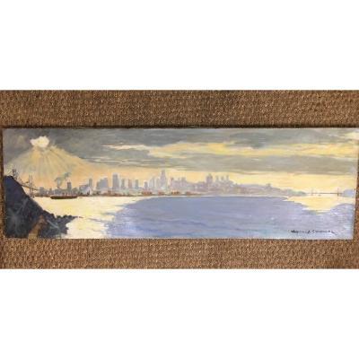 """SAN FRANCISCO"" par Armand Cultrera de Montaldo vers 1960"