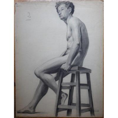 """""""naked Man"""" By Simone Rousselet Circa 1935"""