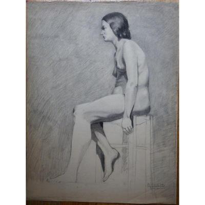 """""""Femme Nue Assise"""" par Simone ROUSSELET ...1934"""