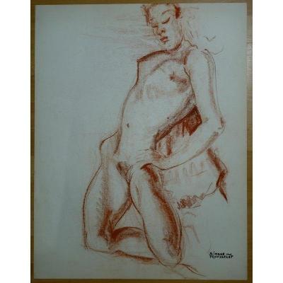 """Femme Nue Agenouillée"""" par Simone Rousselet vers 1960/70"""