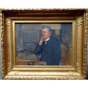 """listen!"" Monogrammed Portrait From 1894"