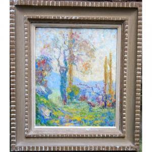 """""""Paysage"""" vers 1930...dans le gout de E. de La Villéon"""