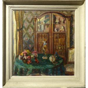 """""""Intérieur de Salon"""" par Alice SOMMER, ALLEMAGNE vers 1930"""