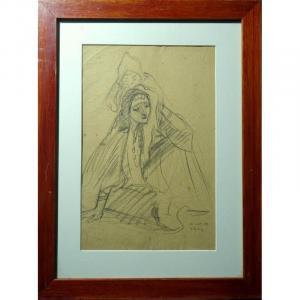 """""""Egyptienne et Enfant"""" par Henri THOMAS ,le Caire  1908"""