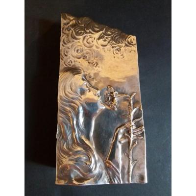 Vase Bronze Argenté  Delagrange