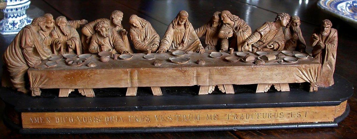 """Sculpture In Tilleul - """"la Cène"""""""