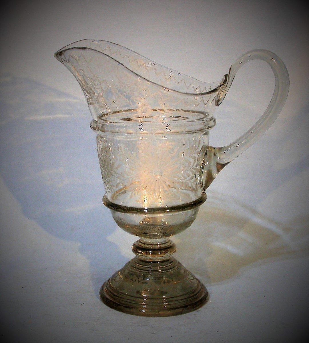 Glass Ewer - XIX Th C