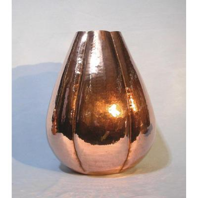 Copper Vase About 1930 By Mugarits