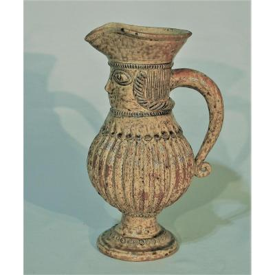 Anthropomorphic Pitcher In Gres - La Borne
