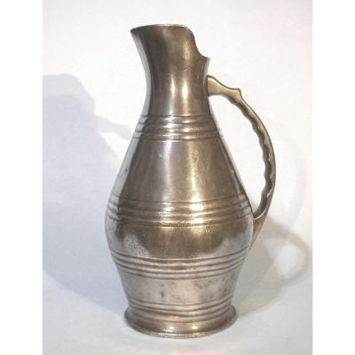 Broc De Chai In Tin (pewter) - Beginning Of XIXth Century