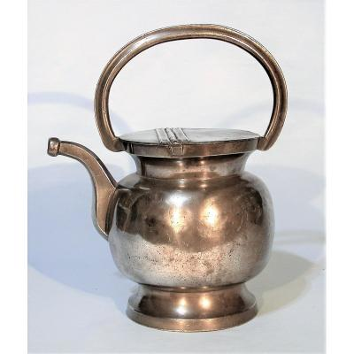 Milk Chuck In Tin (pewter) - Nimes, XIX Th