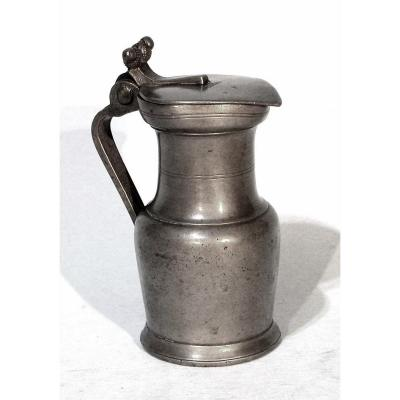 Tin Wine Pitcher (pewter) Castres - Early XIX Th