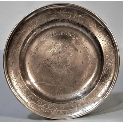Commemorative Pewter Plate (tin) - Heilbronn, XIX Th Century