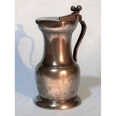 Rare Pewter Wine Pitcher  - Beaucaire, XVIIIth C.