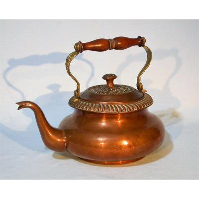 Copper And Brass Kettle - Late 19th