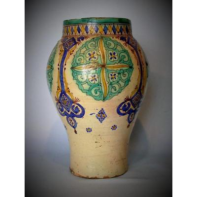 Earthenware Khabbya - Tunisia Or Marocco, Late XIXth Century