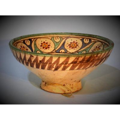 Earthenware Bowl (mokhfia) - Morocco, Late XIXth Century