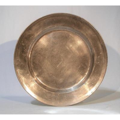 Pewter Dish (pewter) - France, XVIII Th Century