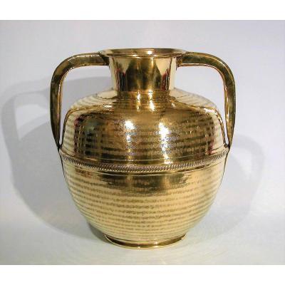 Brass Milk Cane - Lower Normandy, XIXth Century