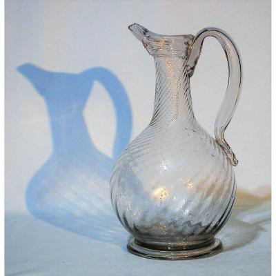 Large Glass Carafe - Normandy, XVIIIth Century