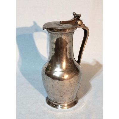 Tin (pewter) Essoyes Wine Jug - XVIII Th Century