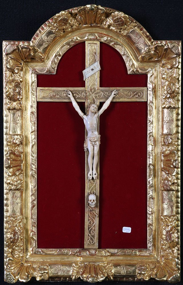 Christ In Ivory, From The XVIII Century, Setting: 60 Cm
