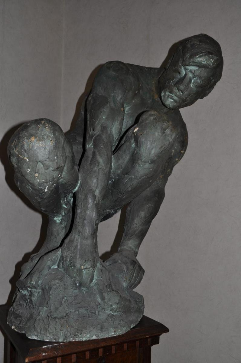 Sculpture, Ernesto De Fiori, Plâtre d'atelier Signé