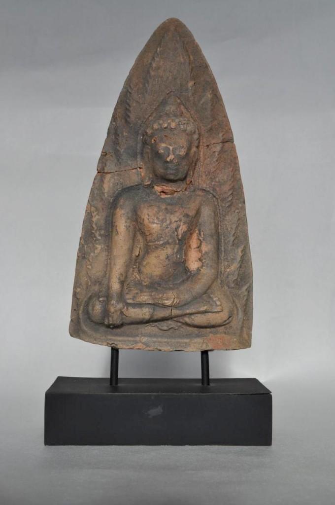 Stèle, Bouddha En Terre Cuite 9-10e Siècle