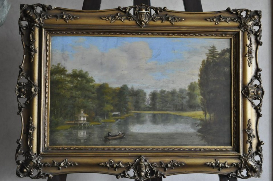 Oil On Panel Early Nineteenth -