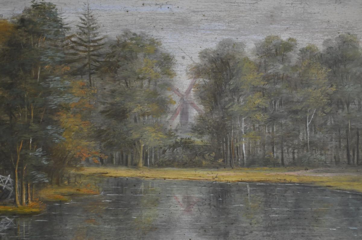 Huile Sur Panneau Début XIXème - -photo-1