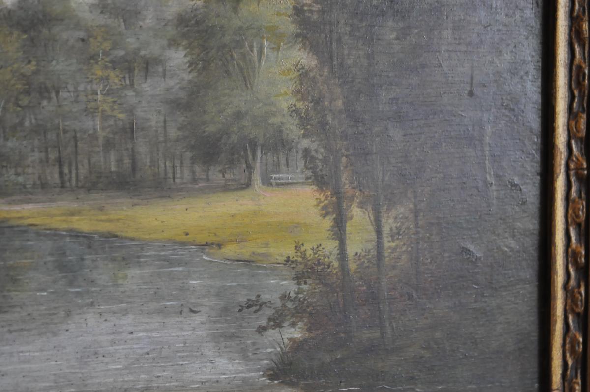 Huile Sur Panneau Début XIXème - -photo-2
