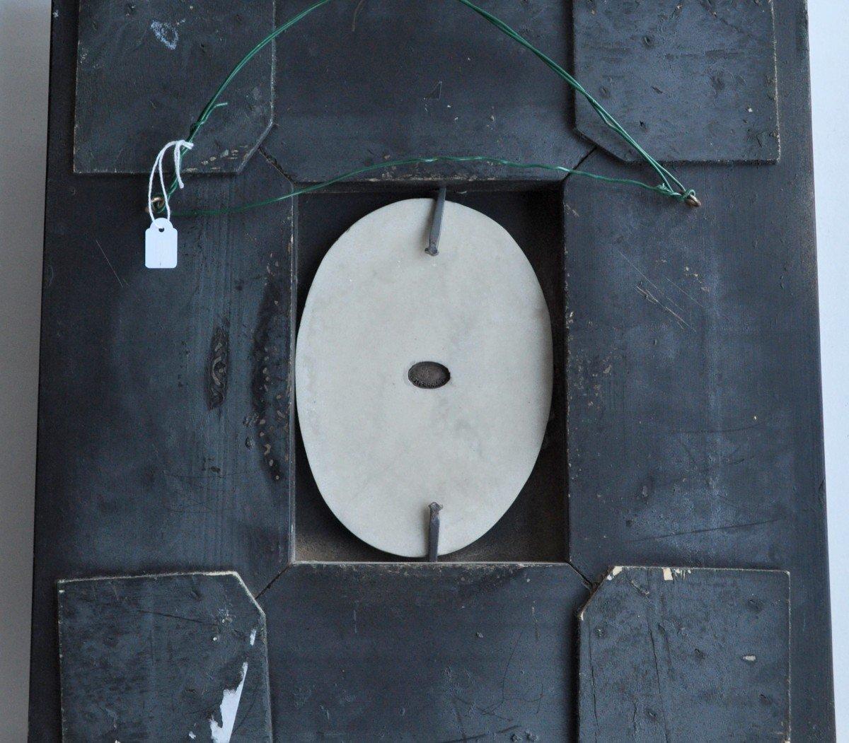 Sculpture - Plaque Ovale En Marbre - 19ème Siècle Signée-photo-5