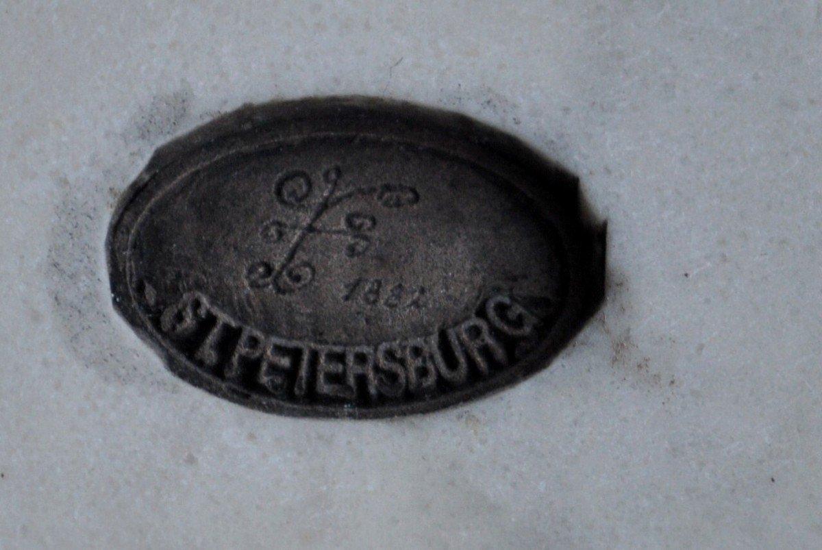 Sculpture - Plaque Ovale En Marbre - 19ème Siècle Signée-photo-7