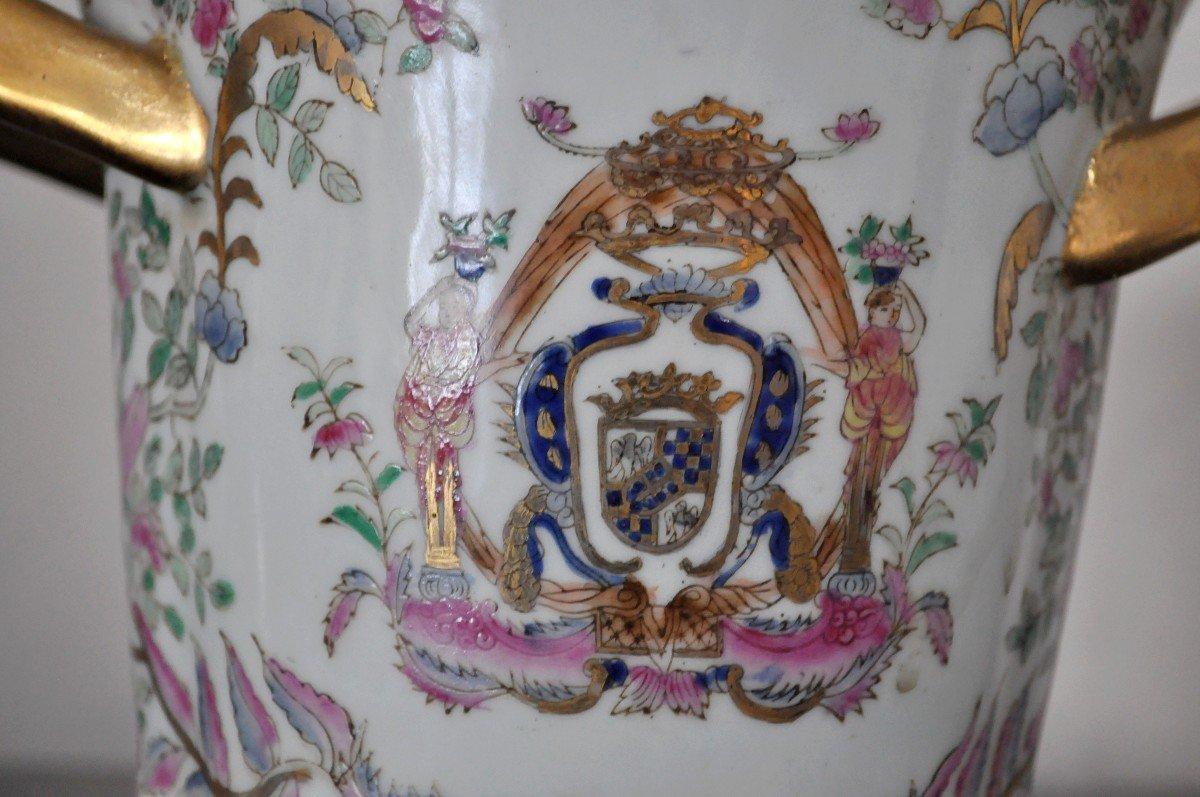 Paire De Pots En Porcelaine - Début XXème-photo-3