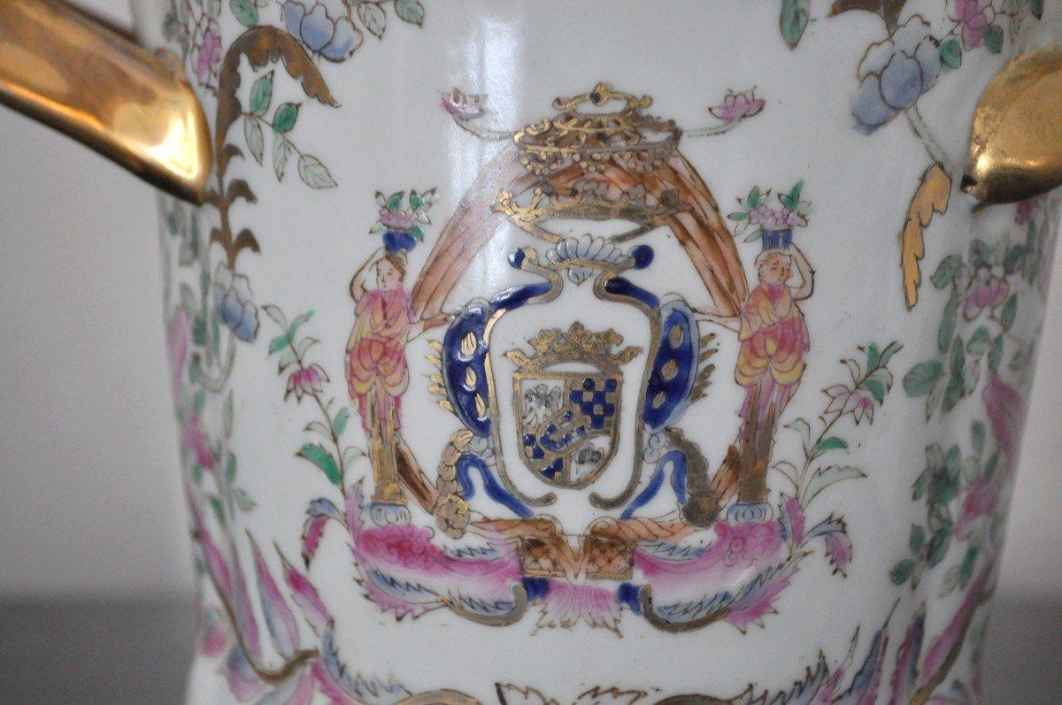 Paire De Pots En Porcelaine - Début XXème-photo-4